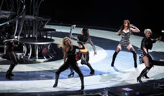 """The Pussycat Dolls opened for Britney Spears in concert during her """"Circus"""" tour at the Verizon Center in Washington, D.C. on Tuesday, March 24, 2009. (Barbara L. Salisbury / The Washington Times) ** FILE **"""