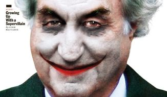 "This image, provided by New York Magazine, shows the front cover of the magazine's March 2, 2009 edition, featuring an illustration portraying financier Bernard Madoff as the Joker character from the ""Batman"" comic series. (AP Photo/Illustration by Darrow for New York Magazine) ** NO SALES **"