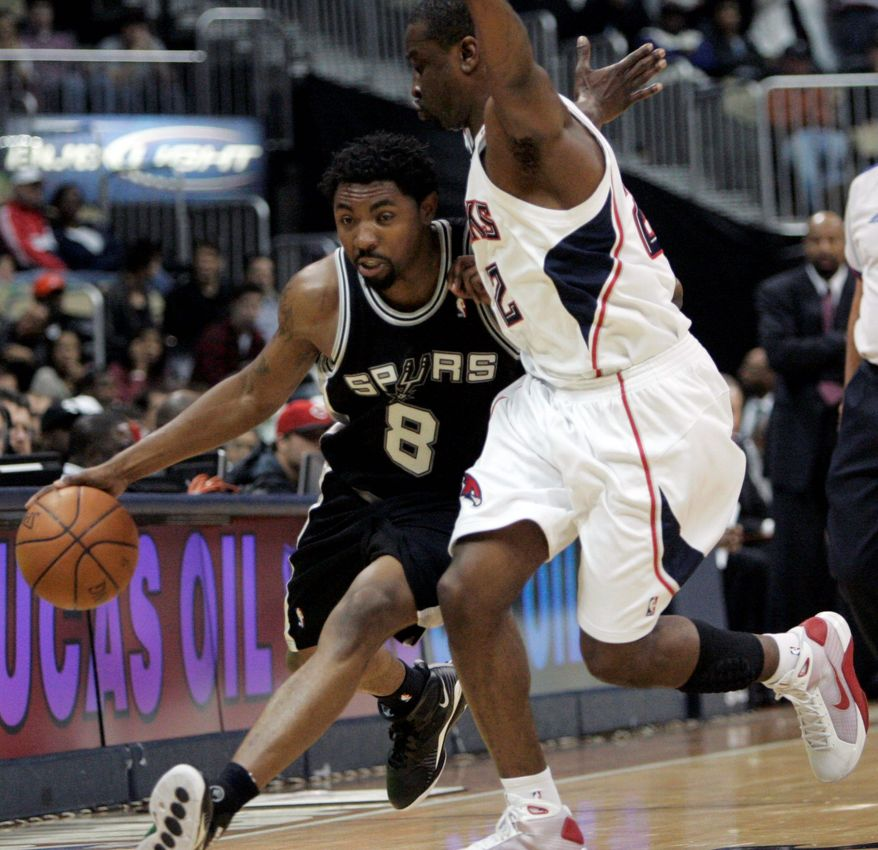 ** FILE ** Roger Mason Jr. has made four game-winning shots for the Spurs in April 2009. (Associated Press)