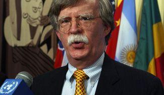 **FILE** Former U.N. Ambassador John R. Bolton (Associated Press)