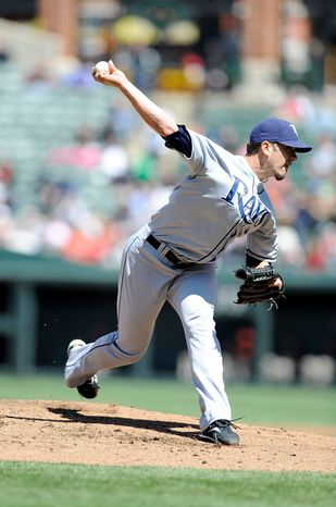 James Shields gave up three hits in seven innings for the Rays on Sunday. (Getty Images)