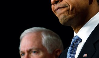 **FILE** President Obama and Defense Secretary Robert M. Gates (Associated Press)
