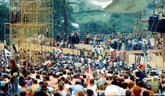 Estimates run as high as a half-million people at the three-day Woodstock festival at Bethel, N.Y., in August 1969. (Associated Press) ** FILE **