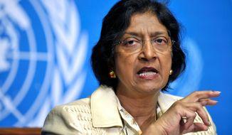 "** FILE ** Navanethem ""Navi"" Pillay, U.N. high commissioner for human rights"