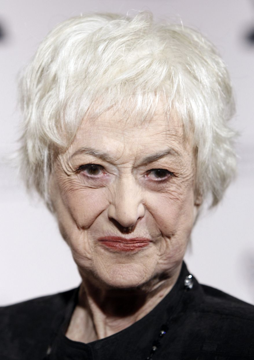 This Dec. 9, 2008 file photo shows actress Bea Arthur arriving at the Academy of Television Arts and Sciences 2008 Hall of Fame Ceremony in Los Angeles. Spokesman Dan Watt says Arthur, 86, died at home early Saturday. He says Arthur had cancer, but declined to give further details. (Associated Press)