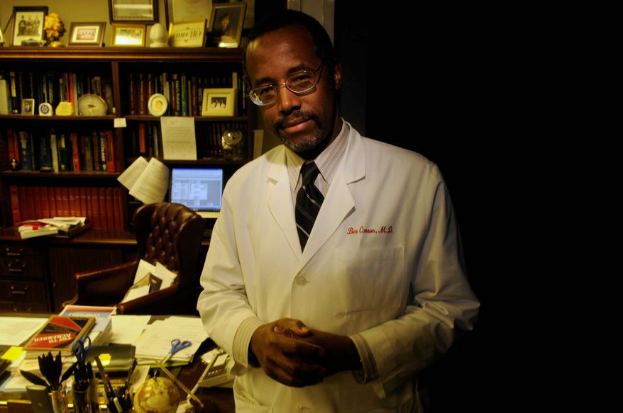 ** FILE ** Dr. Ben Carson, a renowned neurosurgeon at Johns Hopkins Hospital in Baltimore, is pictured in 2009. (The Washington Times)