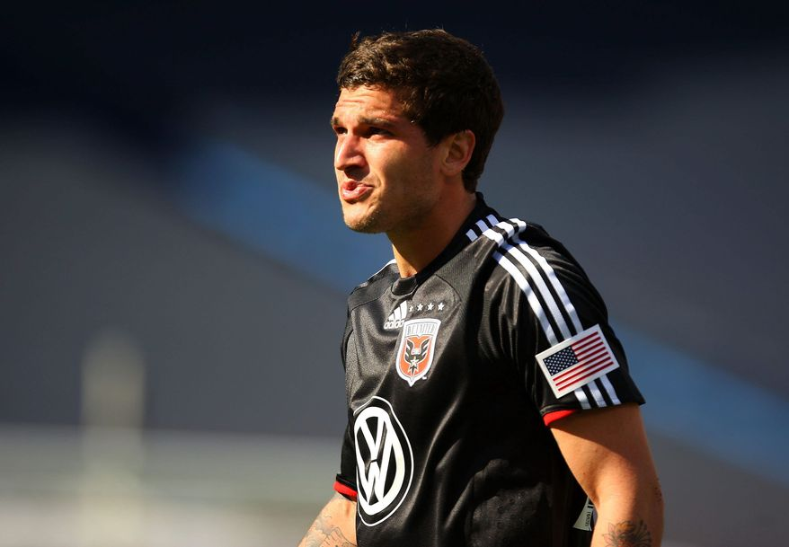 D.C. United midfielder Santino Quaranta played Aug. 6 for the first time in nearly three months after recovering from a concussion. (Getty Images)