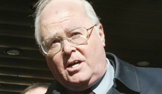 "William A. Donohue, president of the Catholic League, is shown in this February 2004 photo speaking at a news conference after seeing ""The Passion of the Christ"" in New York."