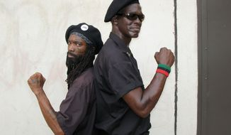 """King Samir Shabazz (left) and Jerry Jackson, pictured in 2008 for the National Geographic Channel show """"Inside,"""" were accused of voter intimidation by the Justice Department. (Courtesy of National Geographic Channel)"""