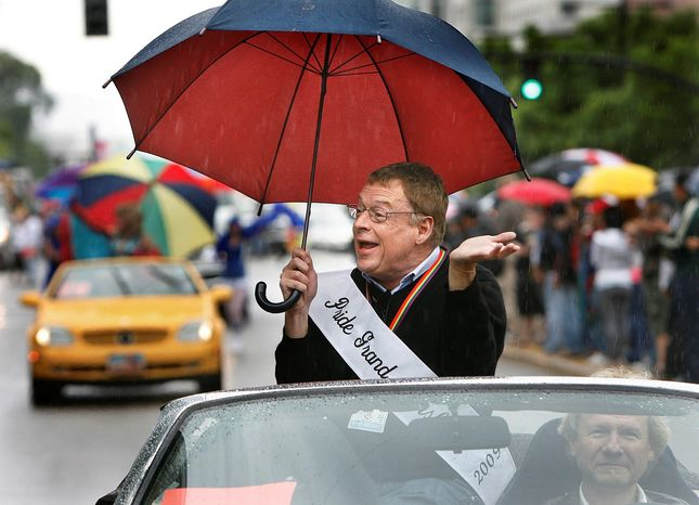 associated press Gay rights activist Cleve Jones serves as grand marshal Sunday at the Utah Pride Festival in Salt Lake City, where he announced plans for a march on Washington this fall to demand equality.