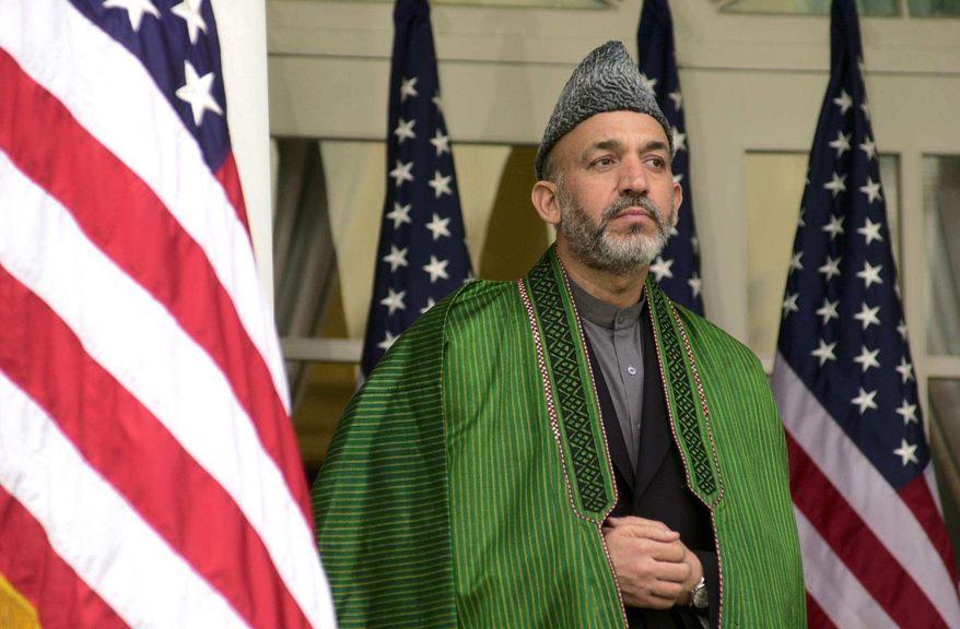 ** FILE ** Afghan President Hamid Karzai (The Washington Times)