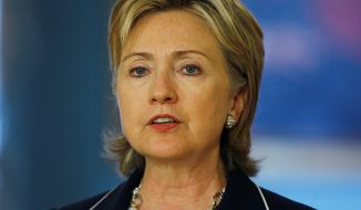 **FILE** Secretary of State Hillary Rodham Clinton (Associated Press)
