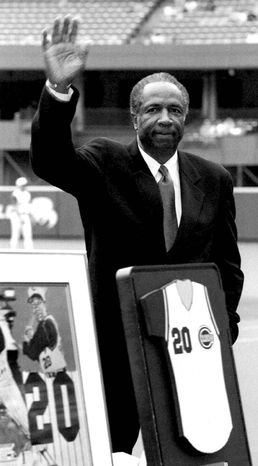Associated Press Frank Robinson was one of seven Redlegs that fans voted to the All-Star Game in 1957.