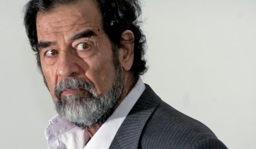 "Saddam Hussein said his Iraqi government had ""no connection"" with al Qaeda. (Associated Press) **FILE**"