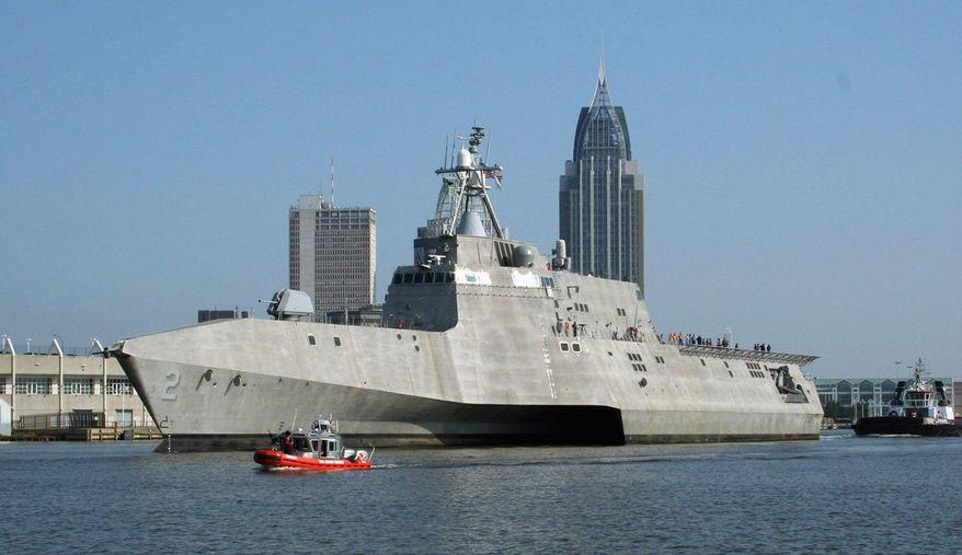 U.S. NAVY/GENERAL DYNAMICS VIA GETTY IMAGES U S. Navy littoral combat ship began ocean trials July 2 in Mobile, Ala.