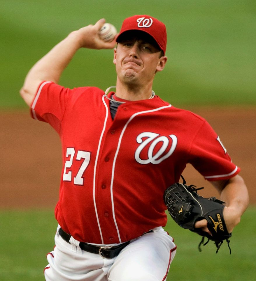 Washington Nationals starter Jordan Zimmermann underwent Tommy John surgery in August of 2009. He made seven starts in 2010 with mixed results, but in 2011 he has become the Nationals' best starter. (Associated Press)