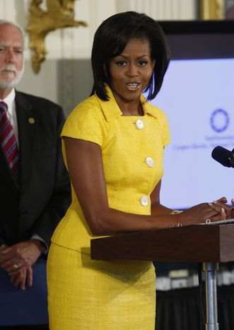 ** FILE ** First lady Michelle Obama