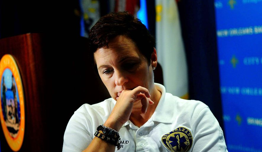Dr. Jullette Saussy, director of emergency medical services in New Orleans, has to deal with a health infrastructure that was decimated in the aftermath of Katrina. (Rod Lamkey Jr./The Washington Times) **FILE**