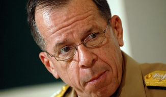 **FILE** Adm. Mike Mullen, chairman of the Joint Chiefs of Staff (The Washington Times)
