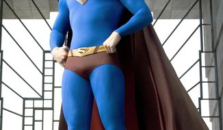 "Brandon Routh fights for ""Truth, justice, and all that stuff"" in ""Superman Returns."""