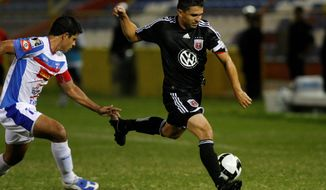 Jaime Moreno and D.C. United have just one MLS road win but prevailed at Salvadoran club Firpo last week. (Associated Press) ** FILE **