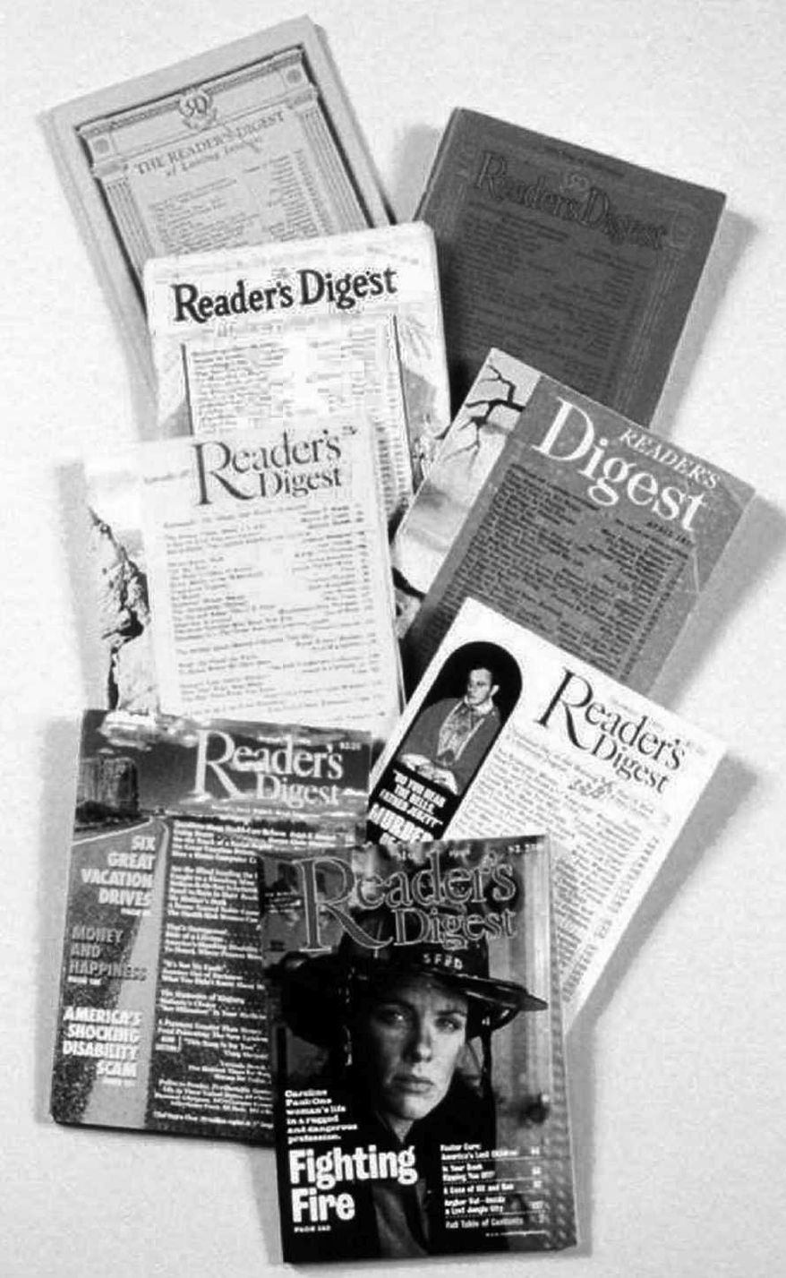** FILE ** Covers from past issues of Reader's Digest