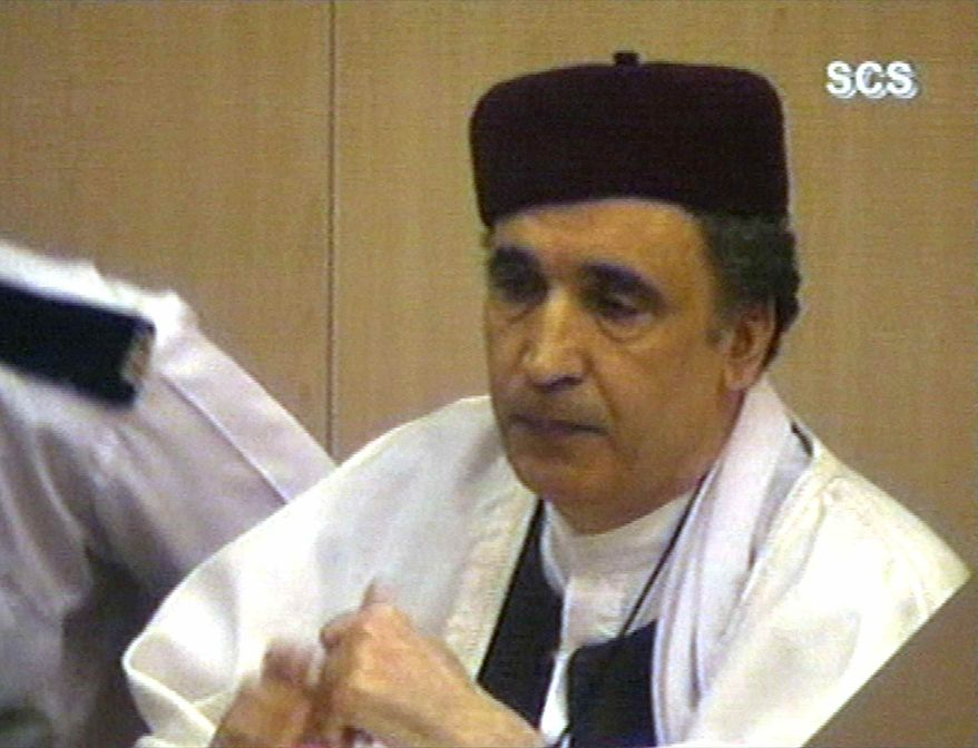 ** FILE ** This Thursday, March 14, 2002, file photo shows convicted Lockerbie bomber Abdel Basset al-Megrahi, who was due to learn Thursday, Aug. 20. 2009, whether he will be freed on compassionate grounds and allowed to return to Libya or die in a British prison. (AP Photo/Via APTN)