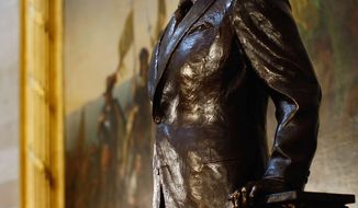 GETTY IMAGES A statue of President Ronald Reagan in the U.S. Capitol's Rotunda.