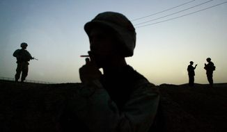 ASSOCIATED PRESS A study commissioned by the Pentagon and Veterans Affairs recommending a smoke-free military has drawn strong reactions.