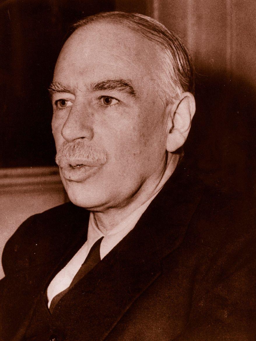 A portrait of Lord John Maynard Keynes taken in his office at the treasury. (08/24/45) AP Photo