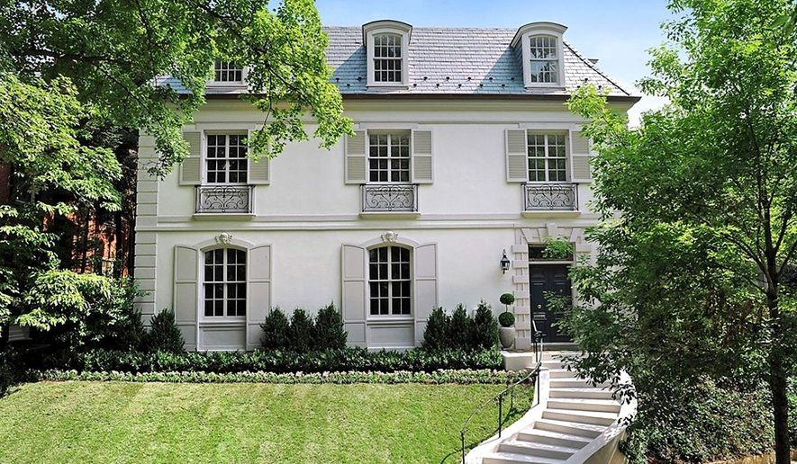 The 7,530-square-foot luxury home at 34 Kalorama Circle NW is on the market for $7,995,000. It has eight bedrooms, seven baths and two half baths on four levels with an elevator.