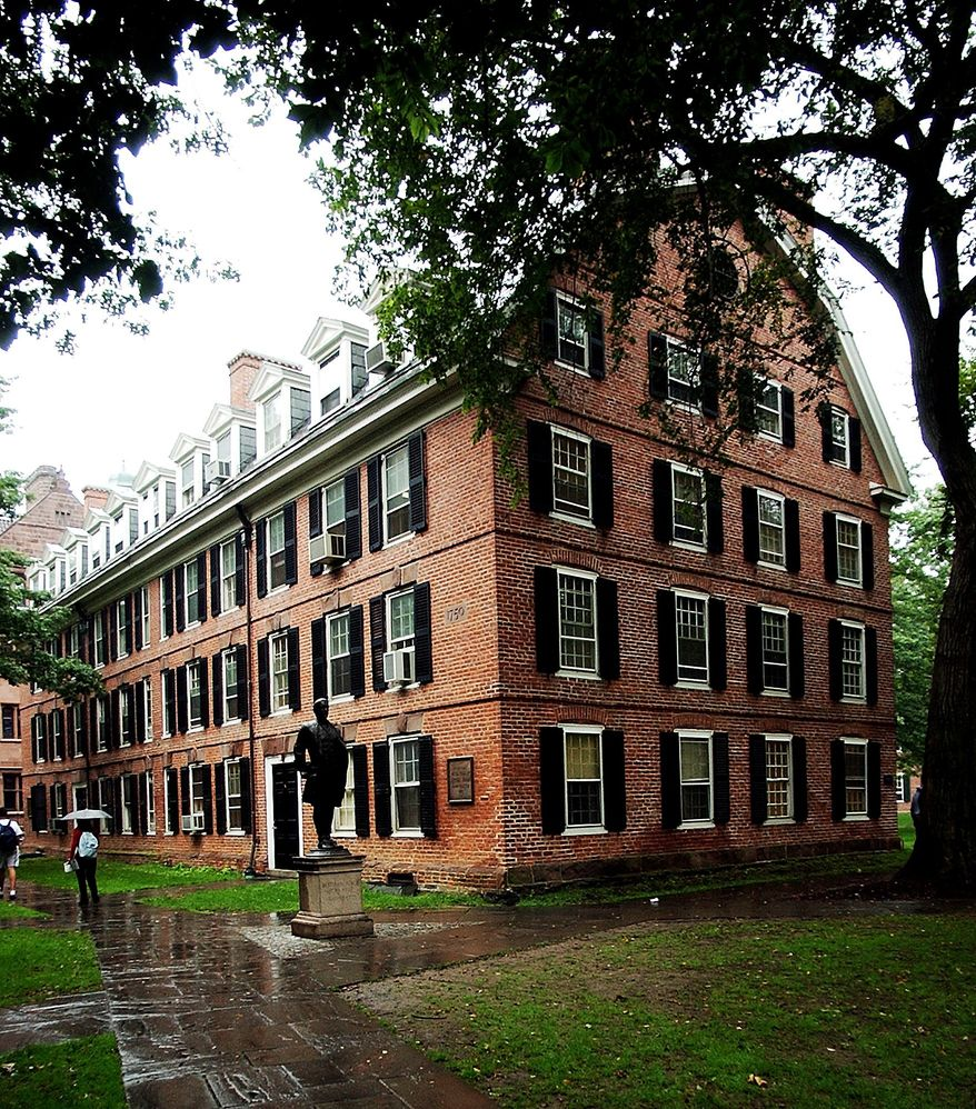 Connecticut Hall, one of the original buildings on Yale University's Old Campus, housed patriot Nathan Hale as an undergraduate. (AP Photo)