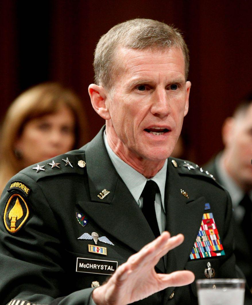 ** FILE ** Gen. Stanley A. McChrystal (AP Photo)
