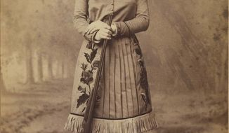 ** FILE ** Annie Oakley is featured in a silver print from 1885.