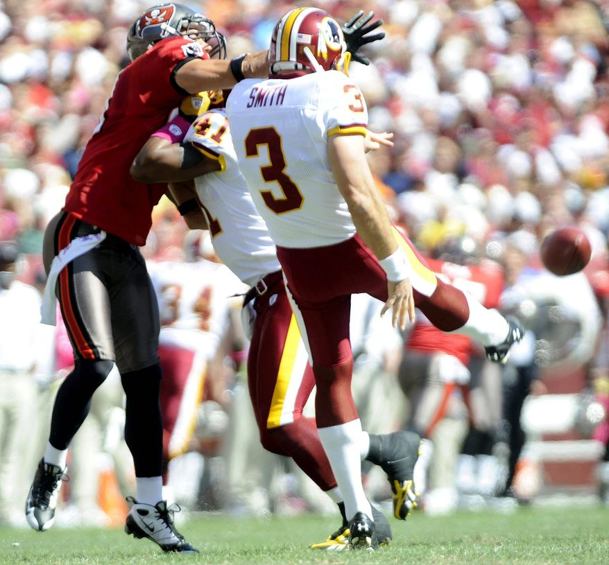 Joseph Silverman / The Washington Times File. Washington Redskins punter Hunter Smith against the Tampa Buccaneers.