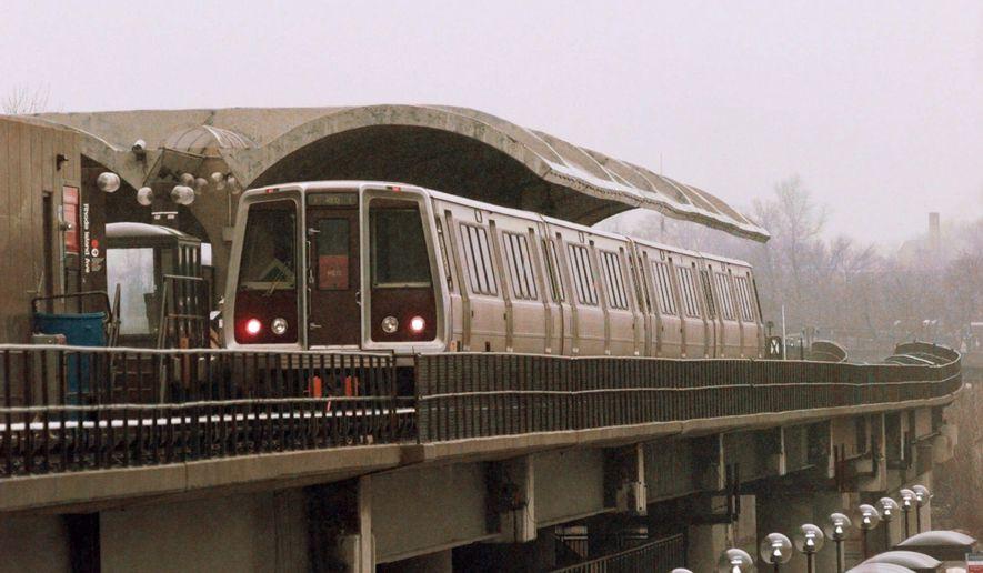 **FILE** A Metrorail train of the Washington Metropolitan Area Transit Authority (Associated Press)