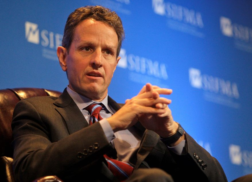 ** FILE ** Secretary of the Treasury Timothy F. Geithner