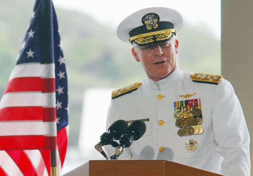 **FILE** Adm. Robert F. Willard, commander of the U.S. Pacific Command (Associated Press)