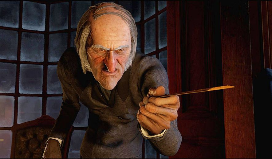 """Jim Carrey provides the voice and motion-capture persona for the miser Ebenezer Scrooge in """"A Christmas Carol."""""""