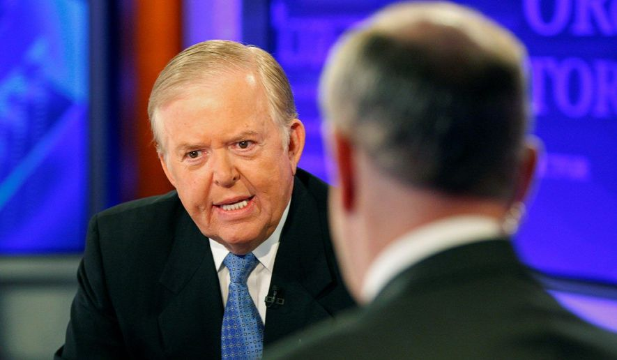 "Lou Dobbs, left, speaks with Bill O'Reilly during taping a segment for Fox News channel's ""The O'Reilly Factor,"" in New York, Monday, Nov. 16, 2009. (AP Photo/Kathy Willens)"
