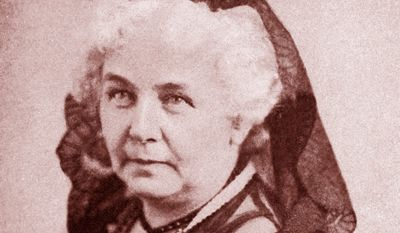 Shown in an undated photo are head and shoulder shots of Elizabeth Cady Stanton. Stanton helped organized the world's first women's rights convention, which met in Seneca Falls, New York, in 1848. She became first president of National Woman Suffrage Association and held that office from 1869-1890. (AP Photo)