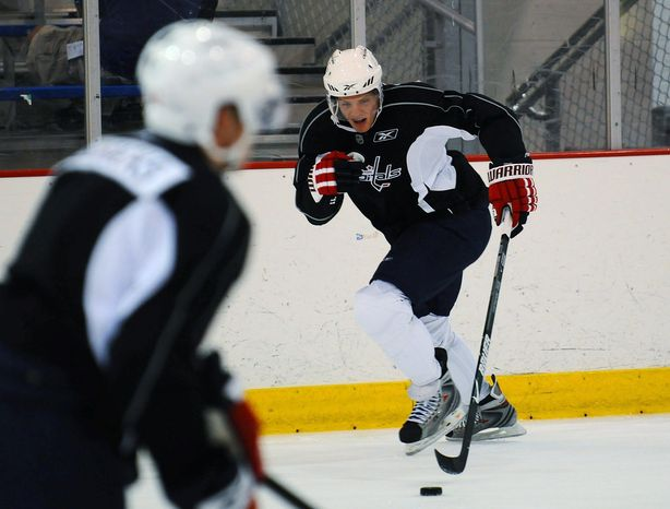 Rod Lamkey Jr. / The Washington Times John Carlson likely will play alongside veteran Tom Poti against the Canadiens on Friday.