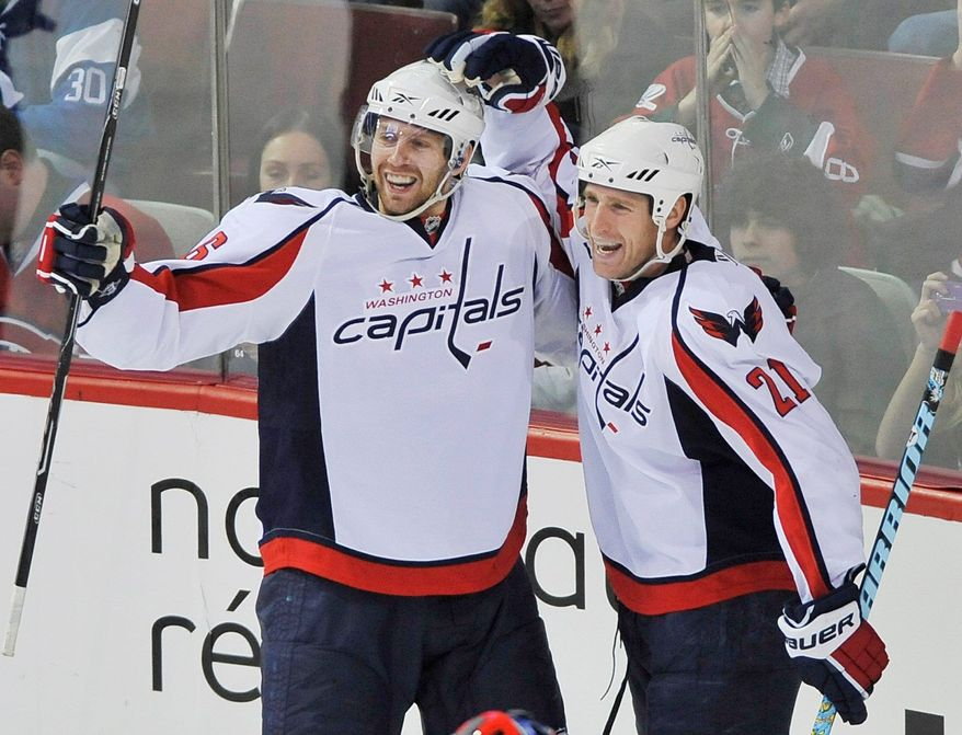 Canadian Press / Associated Press Eric Fehr scored twice in the Caps' win over the Canadiens.