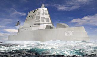 ASSOCIATED PRESS The U.S. Navy's Zumwalt DDG 1000 destroyer