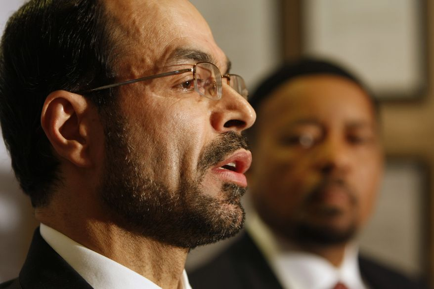Nihad Awad, national executive director for the Council on American-Islamic Relations (CAIR). (AP Photo/Gerald Herbert)