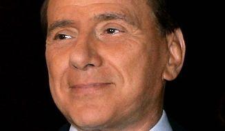 **FILE** Prime Minister Silvio Berlusconi of Italy (Associated Press)