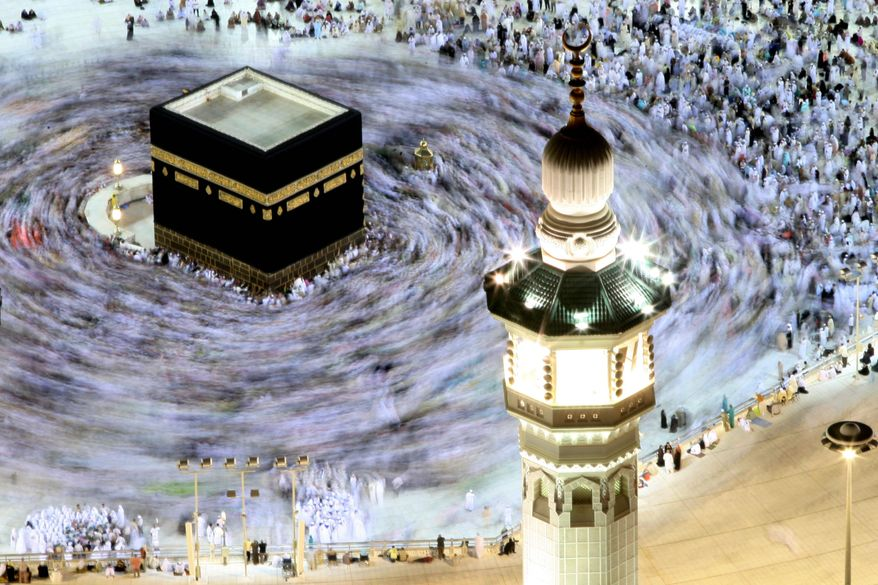associated press Tens of thousands of Muslim pilgrims move around the Kaaba inside the Grand Mosque during the annual Hajj in November in Mecca, Saudi Arabia, which ranked poorly on religious freedom in a new Pew survey.