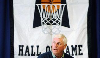 Photos by Associated Press Bob Knight (left) criticized Kentucky coach John Calipari last week for lacking integrity.