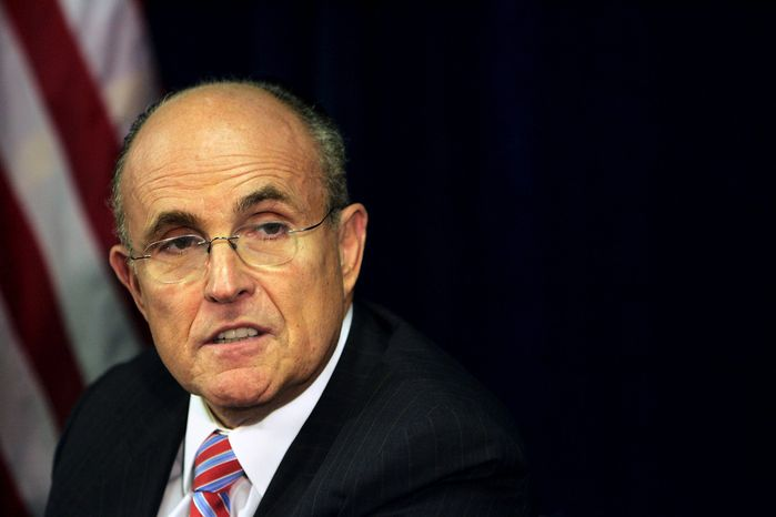** FILE ** Former New York Mayor Rudolph W. Giuliani (AP Photo/Cheryl Senter)