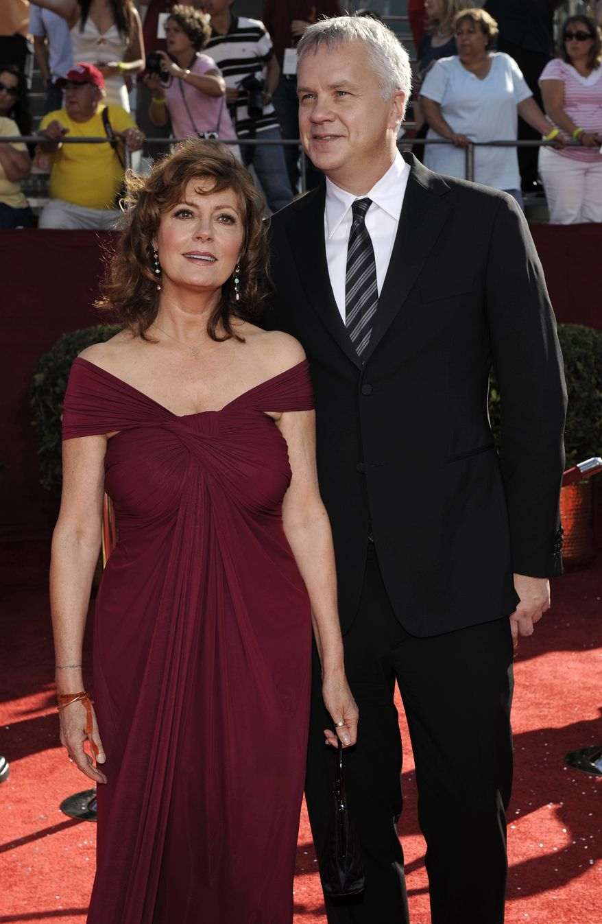 ** FILE ** Actors Susan Sarandon and Tim Robbins arrive for the 60th Primetime Emmy Awards in Los Angeles in 2008. (AP Photo/Chris Pizzello)